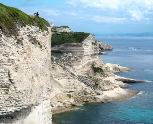 Korsika Urlaub mit Kindern - Küste bei Bonifacio