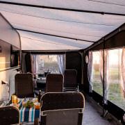 Abendstimmung am Wohnwagen