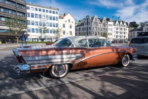Alter Buick von 1958 in Alesund