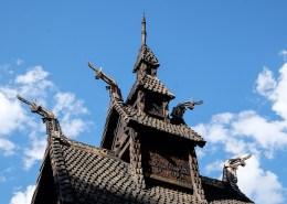 Verzierungen an der Stabkirche Borgund