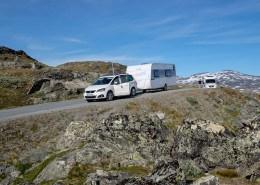 Mit Wohnwagen übers Sognefjell
