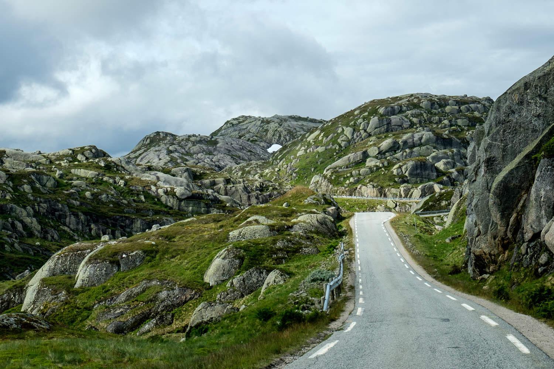 Fjellstraße zum Lysefjord