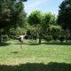 Slacklinen auf Camping l'Ardechois