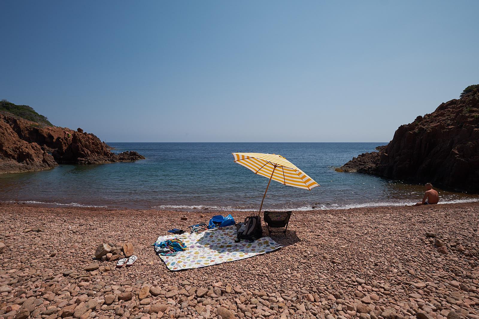 Einsame Bucht an der Esterel-Küste