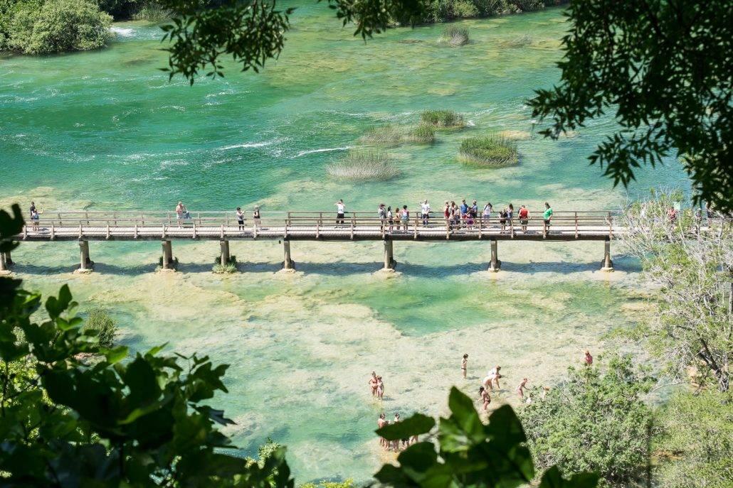 An den Krka-Wasserfällen