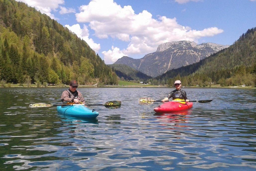 Kajak lernen auf dem Pillersee