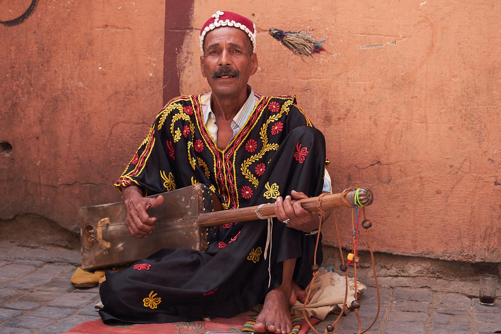 Musiker in der Medina