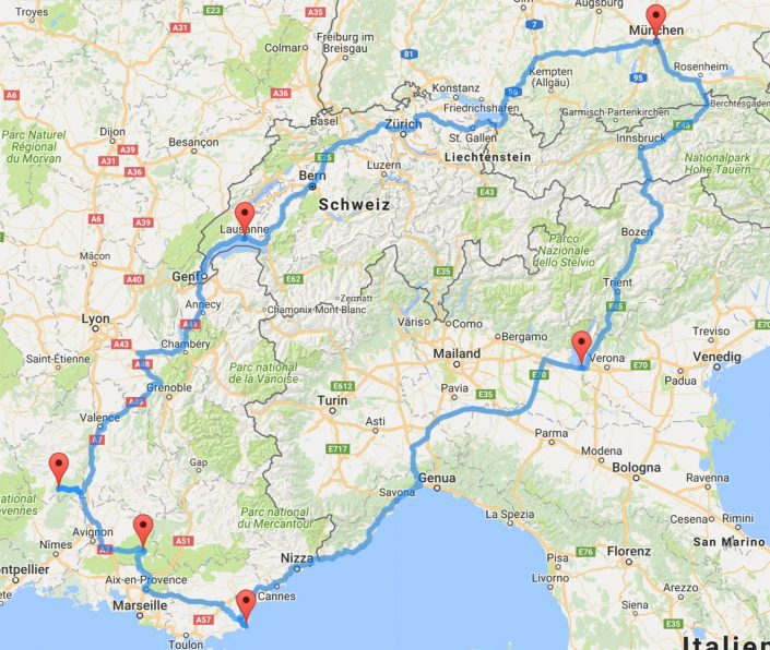 Provence Routenplanung